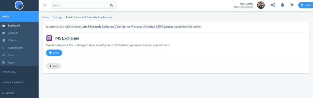 Microsoft Exchange in CRM