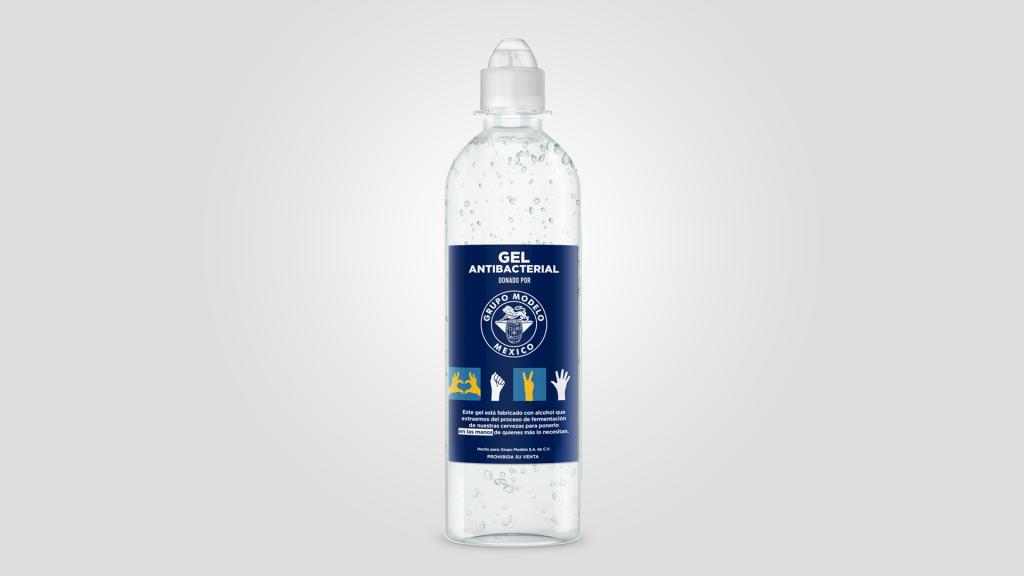 Grupo Modelo donará 300 mil botellas de gel antibacterial producidas con el alcohol que se extrae en la elaboración de su cerveza
