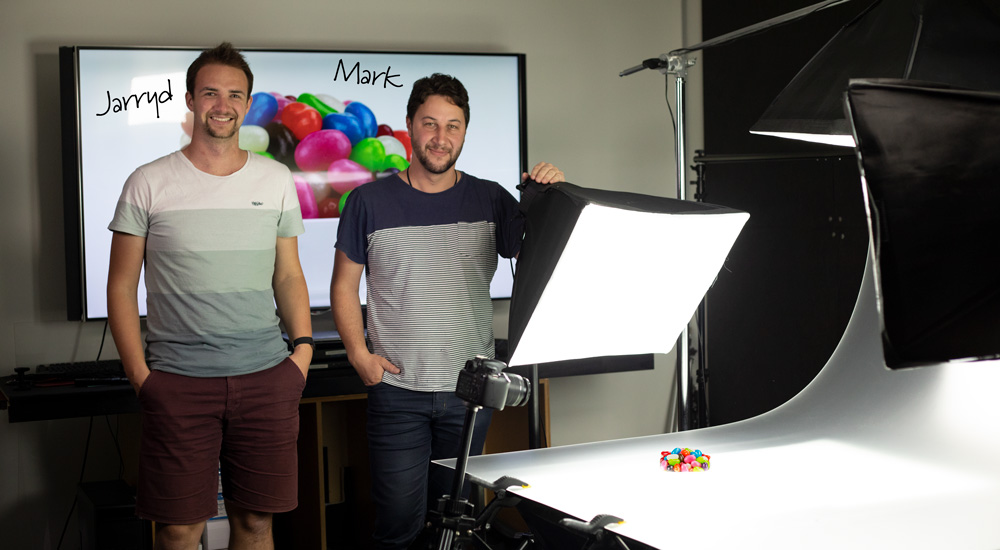 Jarryd & Mark in the product photography studio