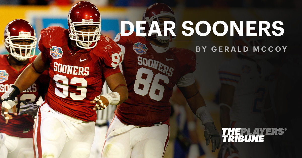 Dear Sooners | By Gerald McCoy