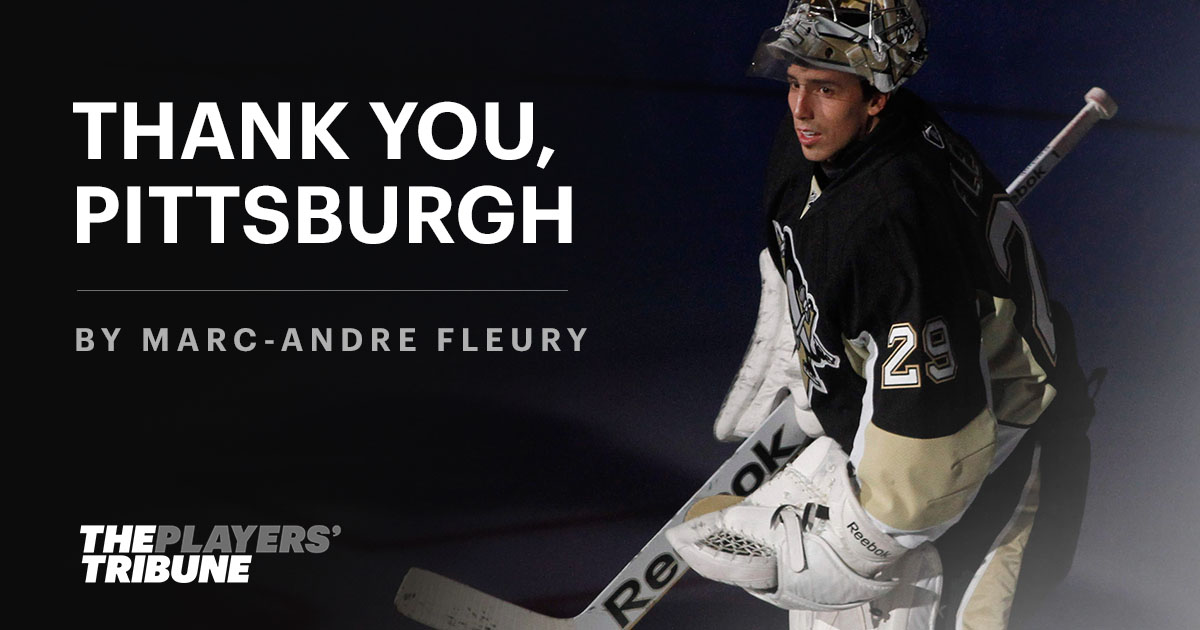 check out 7fb78 6f77a Thank You, Pittsburgh | By Marc-André Fleury