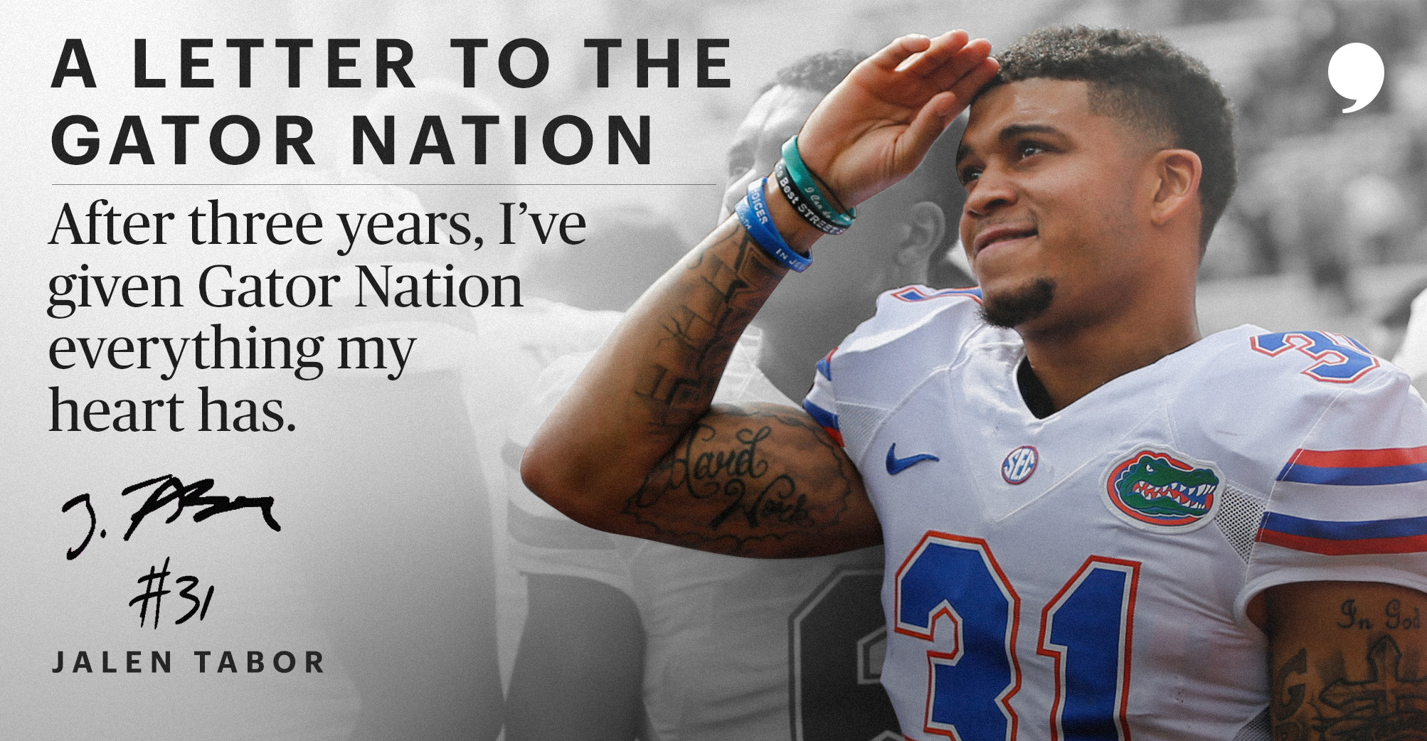 cheaper ec48d 6b3ee A Letter to the Gator Nation | By Jalen