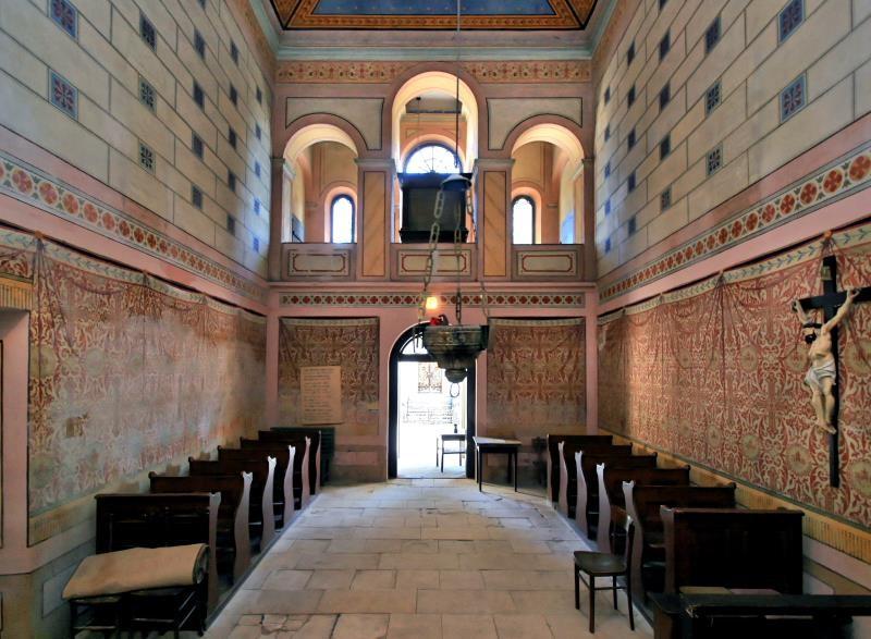 The interior of All Saints Chapel