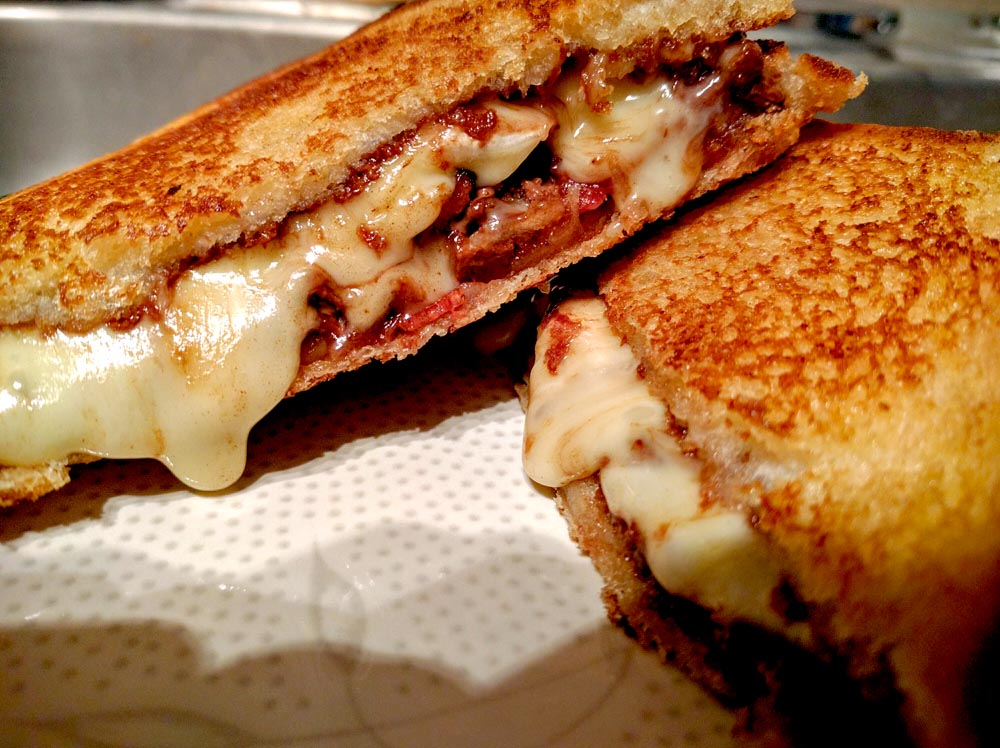 Nutella, Brie & Bacon Grilled Cheese