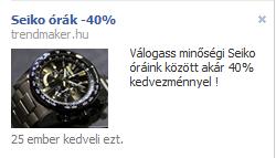 Facebook piactér hirdetés