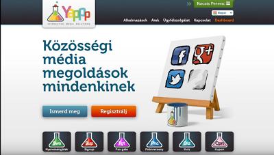 Egyedi honlap design minta