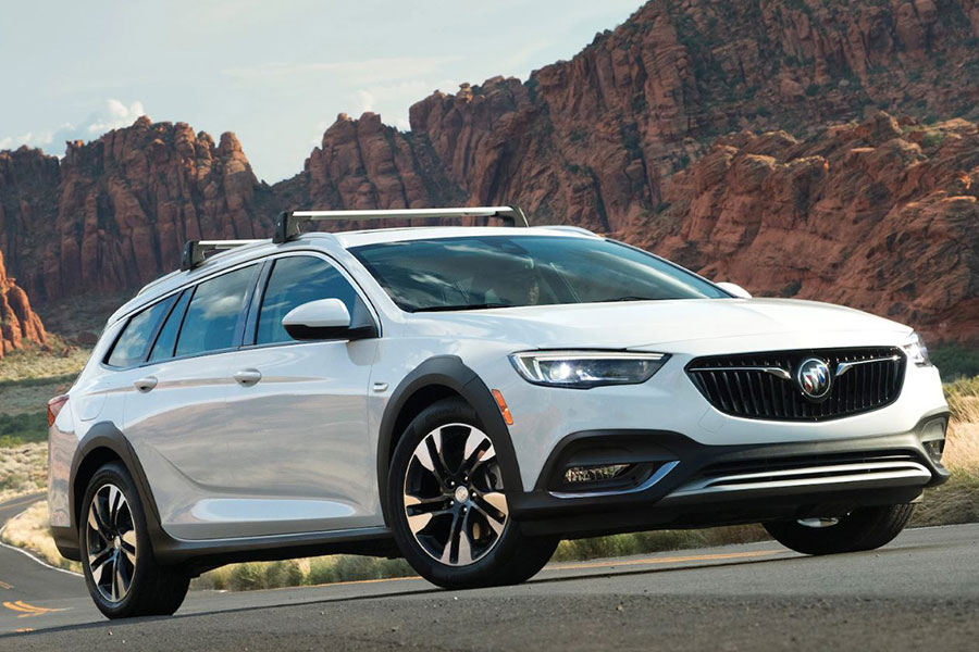 2020 Buick Regal TourX on the Road