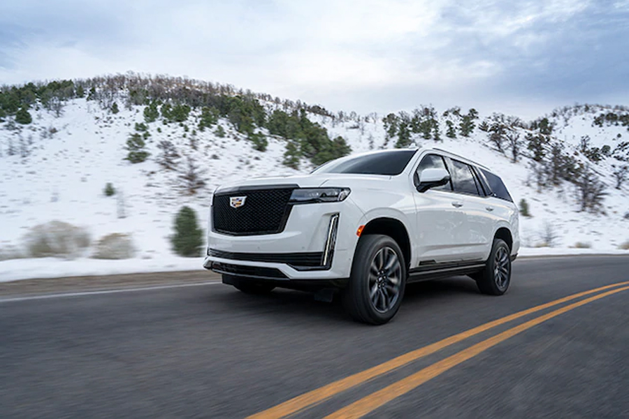 2021 Cadillac Escalade on the Road