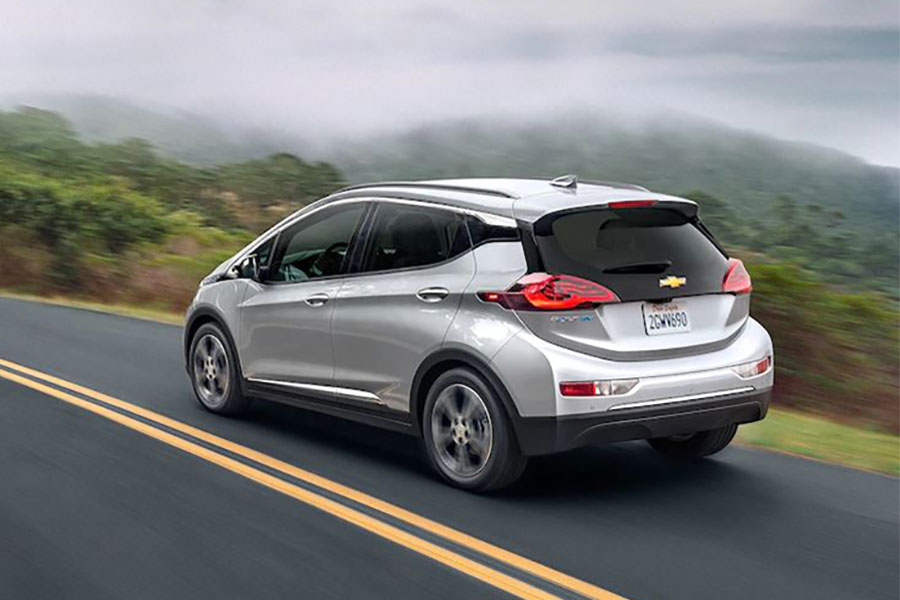 2019 Chevrolet Bolt EV on the Road