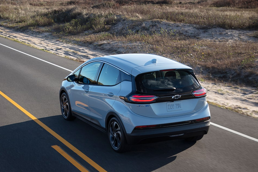 2022 Chevrolet Bolt EV on the Road