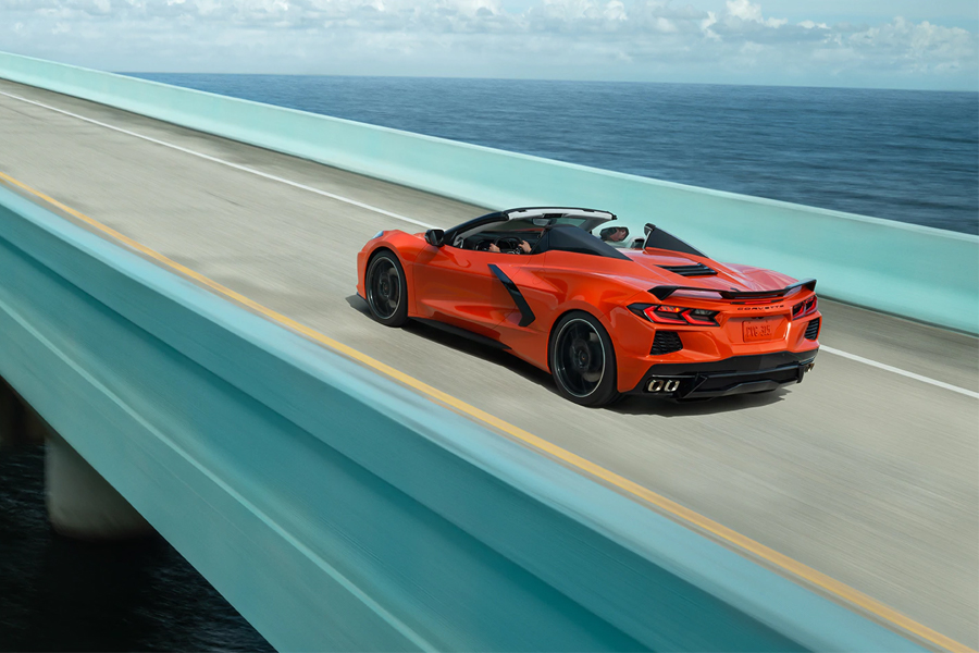 2021 Chevy Corvette on the Road