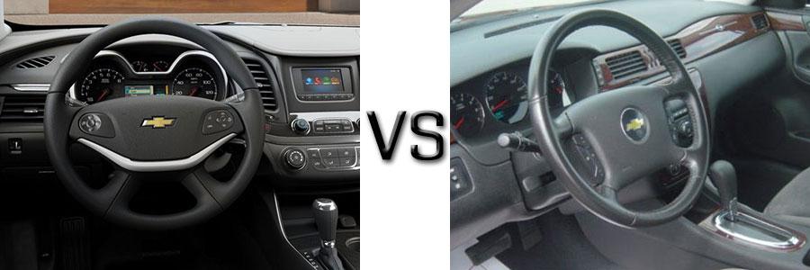 2016 vs 2010 Impala Interior