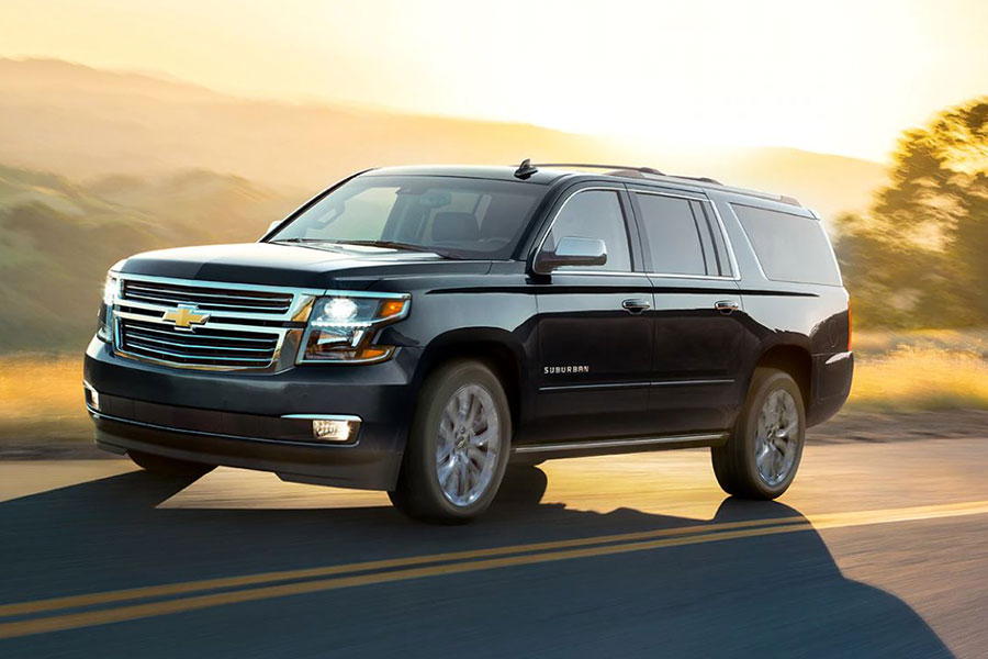2020 Chevrolet Suburban on the Road