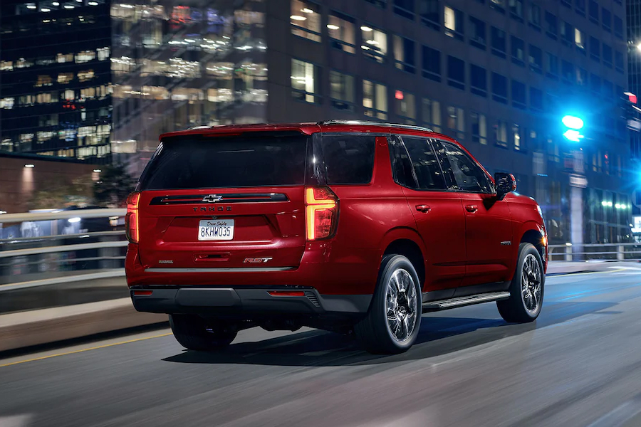 2021 Chevrolet Tahoe on the Road