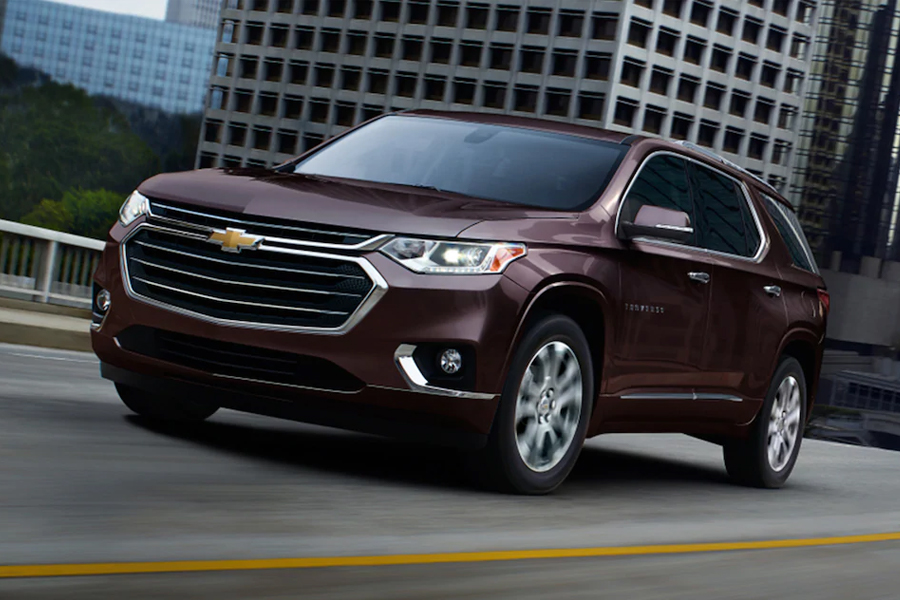2021 Chevrolet Traverse on the Road