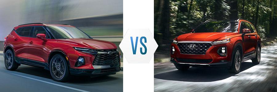 2020 Chevrolet Blazer vs Hyundai Santa Fe