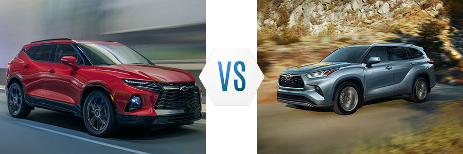 2020 Chevrolet Blazer vs Toyota Highlander