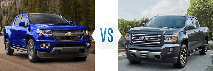2017 Chevrolet Colorado vs GMC Canyon