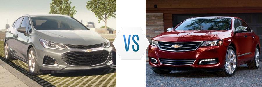 2020 Chevrolet Cruze vs Impala