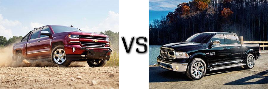 2015 Silverado 1500 vs Dodge Ram 1500