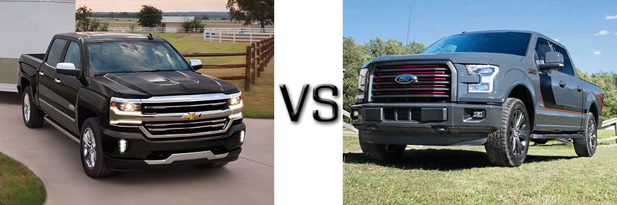 2017 Chevrolet Silverado 1500 vs Ford F-150