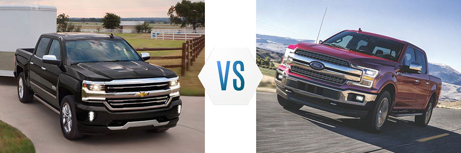 2018 Chevrolet Silverado 1500 vs Ford F-150