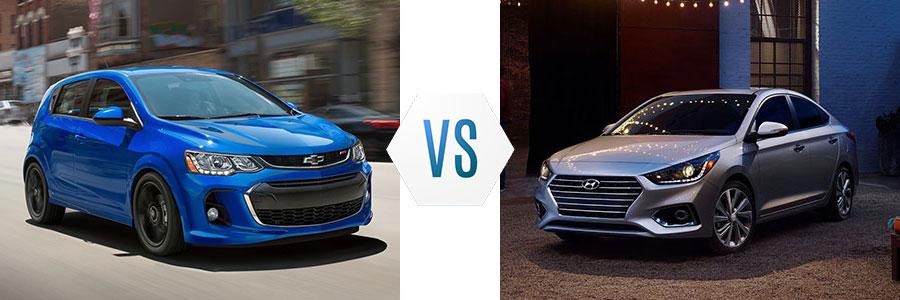 2020 Chevrolet Sonic vs Hyundai Accent