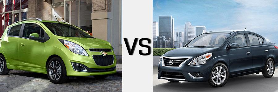 2014 Spark vs Nissan Versa | Burlington Chevrolet