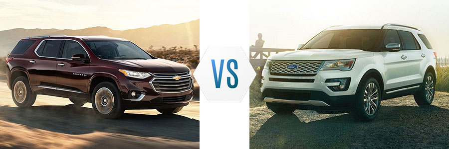 2018 Chevrolet Traverse vs Ford Explorer
