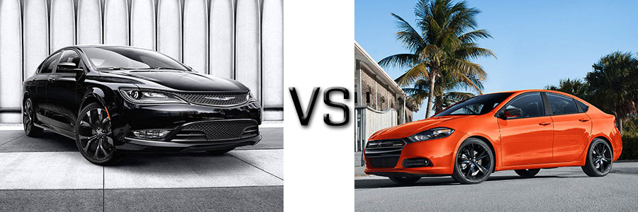 2016 Chrysler 200 vs Dodge Dart