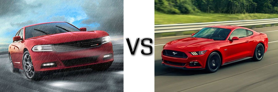 2016 Dodge Charger vs Ford Mustang