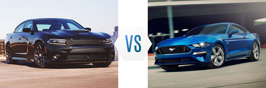 2018 Dodge Charger vs Ford Mustang
