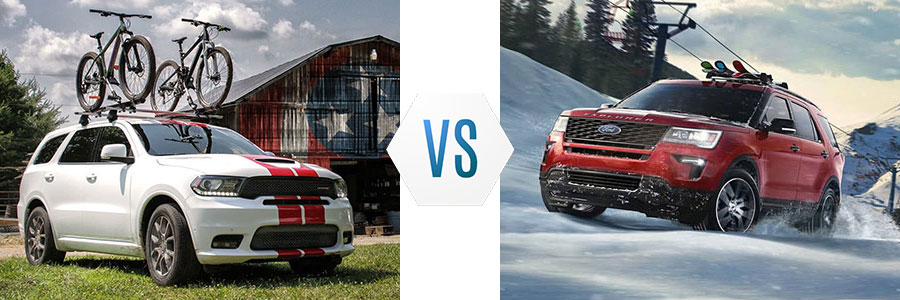 2019 Dodge Durango vs Ford Explorer