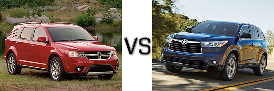 2016 Dodge Journey vs Toyota Highlander