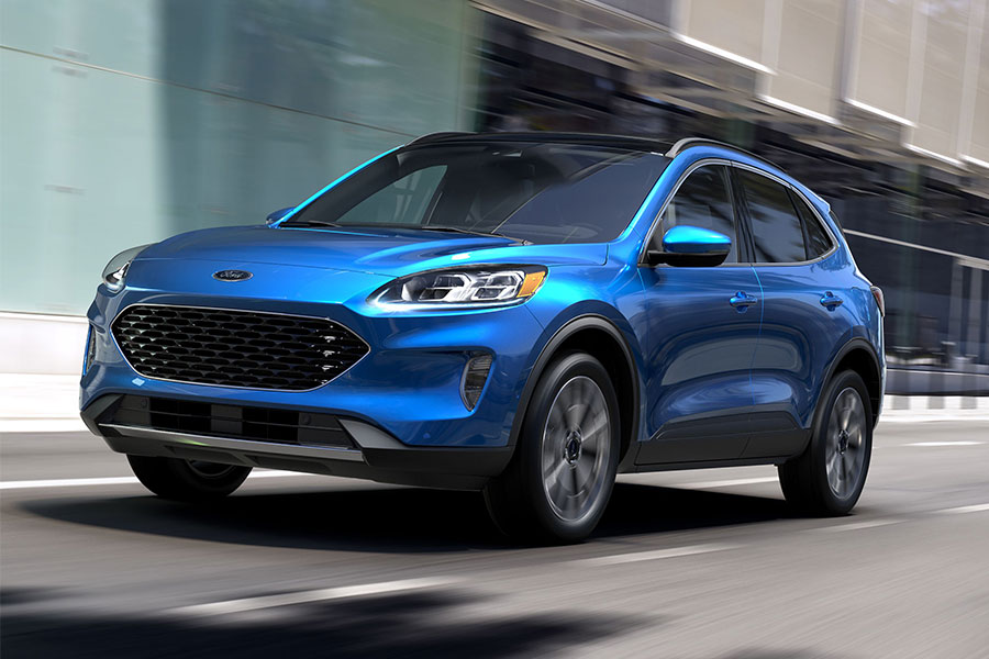 2020 Ford Escape SE Sport Hybrid on the Road
