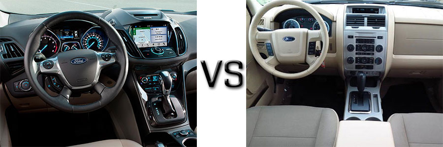 2016 ford escape vs 2012 escape. Black Bedroom Furniture Sets. Home Design Ideas