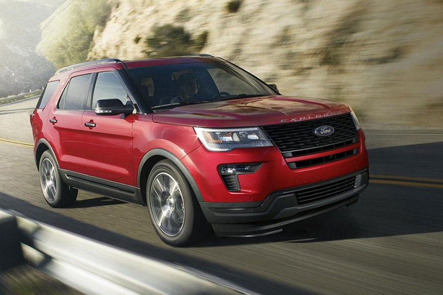2019 Ford Explorer on the Road
