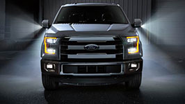 2015 Ford F-150 King Ranch LED box lighting & LED spotlight mirrors