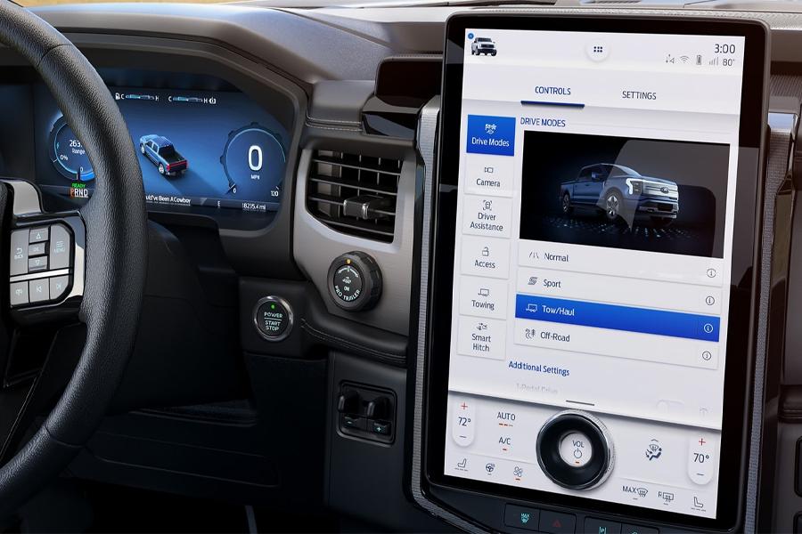 Ford F-150 Lightning Touchscreen