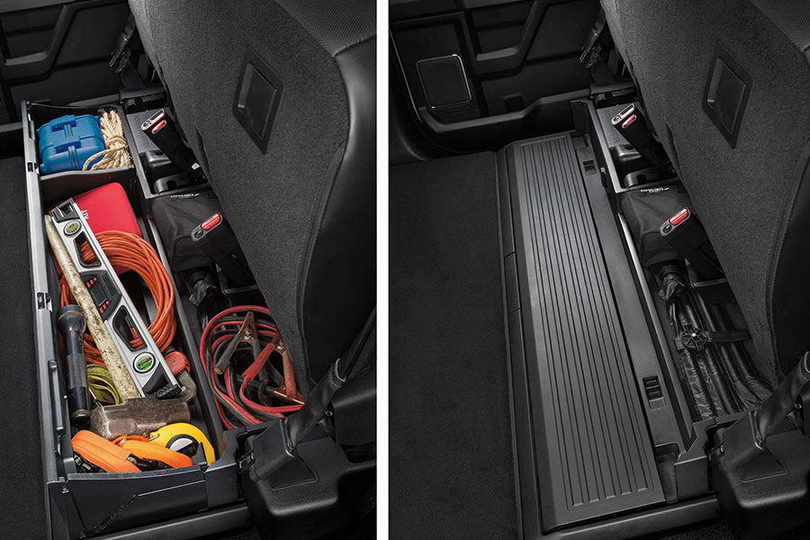 2019 Ford F-250 Rear Seat Lockable Storage