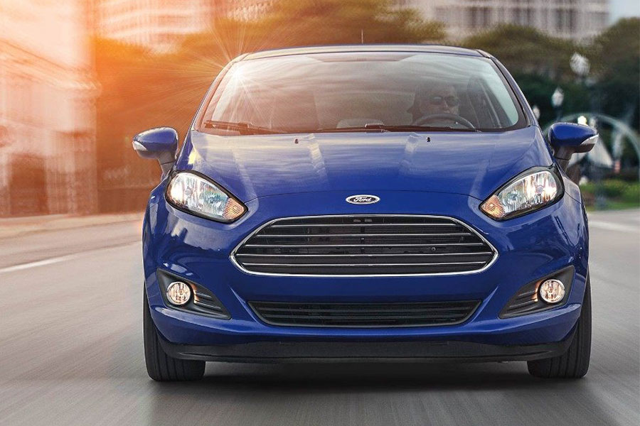 2018 Ford Fiesta on the Road