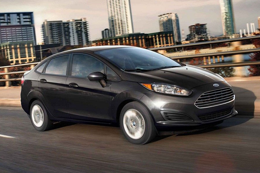 2019 Ford Fiesta on the Road