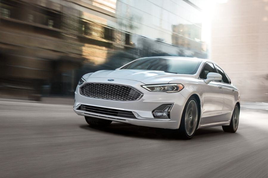 2020 Ford Fusion on the Road