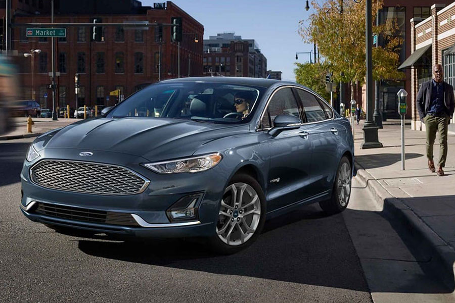 2019 Ford Fusion Hybrid on the Road