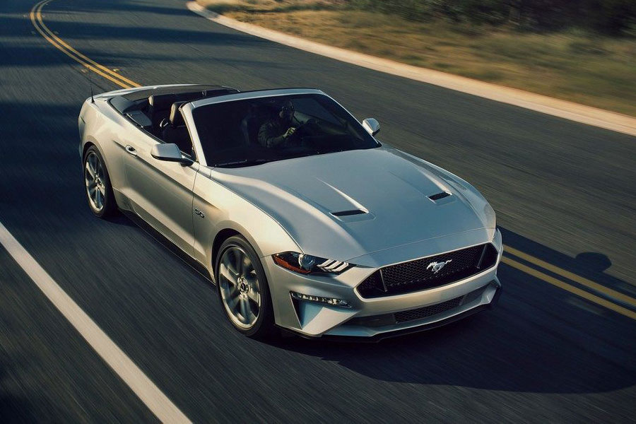 2019 Ford Mustang on the Road