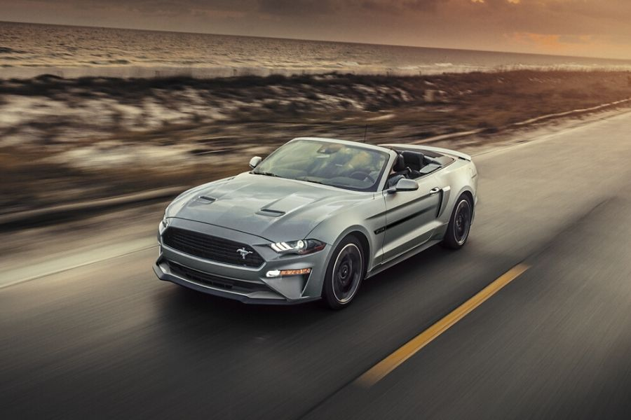2020 Ford Mustang on the Road