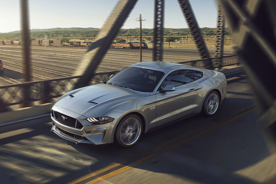 2021 Ford Mustang on the Road