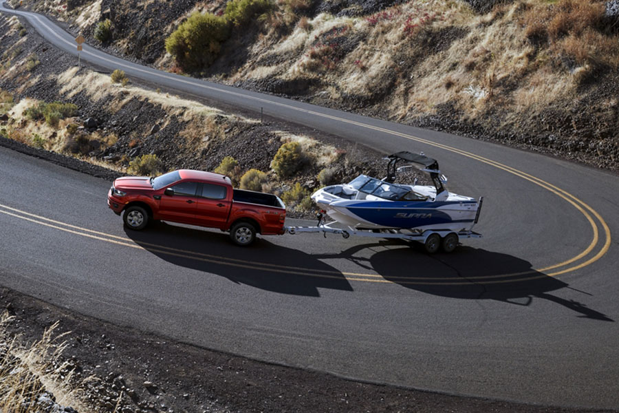 2020 Ford Ranger on the Road Towing