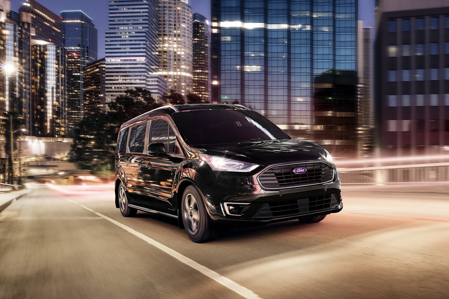 2021 Ford Transit Connect Passenger Wagon on the Road
