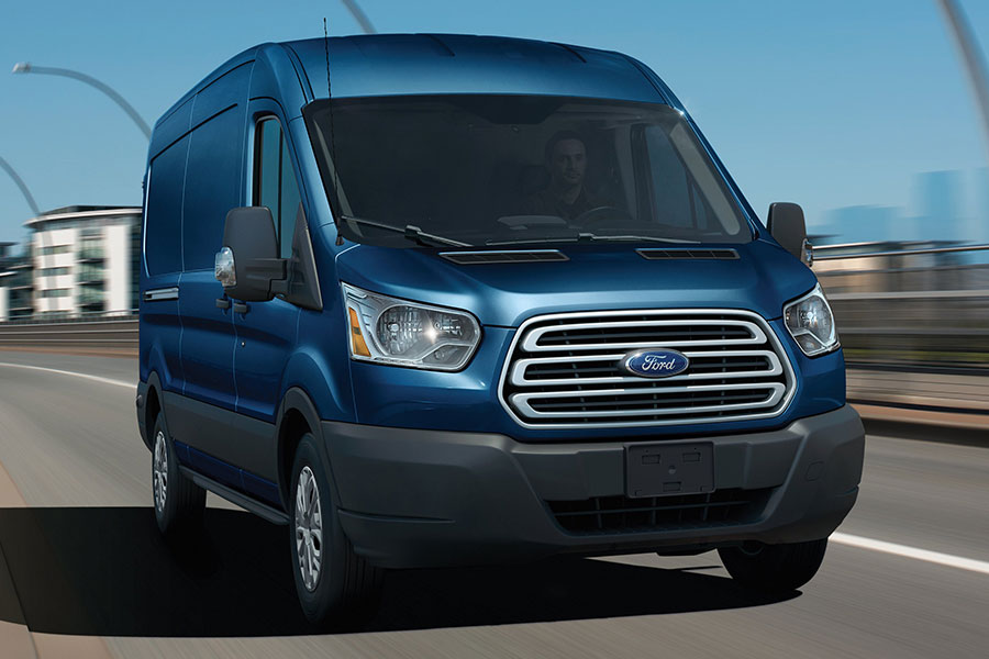 2019 Ford Transit Van on the Road